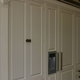 white painted wardrobes