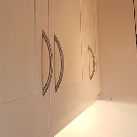 white paint on kitchen cupboards