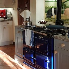 freshly painted kitchen